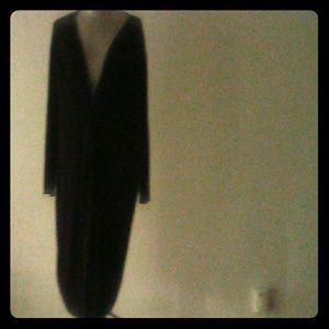 Asos Deep V Plus Size Black Dress SZ 22